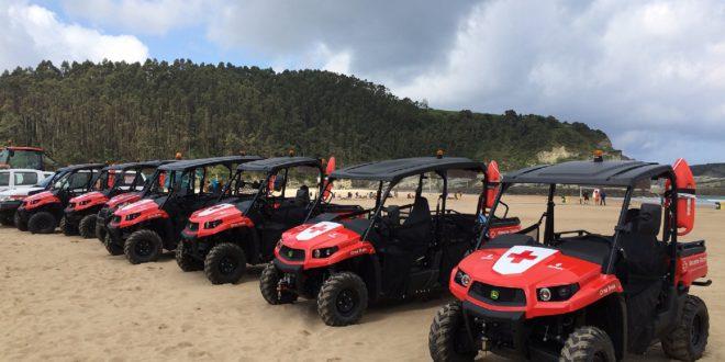 Víctor Pérez Agrícola S.A. hizo entrega recientemente de 6 vehículos multiusos Gator XUV550 a la Delegación de Vizcaya de la Cruz Roja Española.