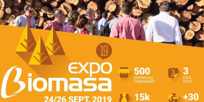 Expobiomasa, la cita europea de la biomasa en Valladolid del 24-26 de Septiembre 2019